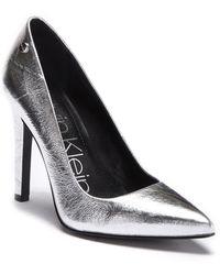 Calvin Klein - Brady Thrill Mettalic Pump - Lyst