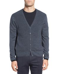 Zachary Prell - Colorblock Wool Button Cardigan - Lyst