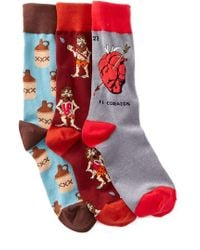 Socksmith - Paleo Corazon Socks - Pack Of 3 - Lyst