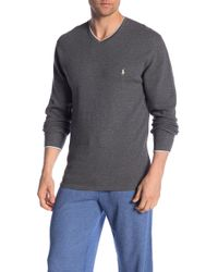Polo Ralph Lauren - V-neck Long Sleeve Tipped Tee - Lyst