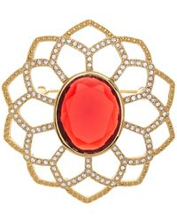 Carolee - Large Openwork Flower Pin - Lyst