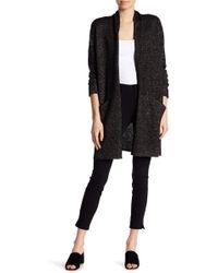 PAIGE - Lorelai Wool Blend Metallic Knit Cardigan - Lyst