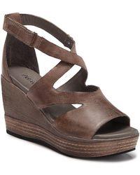 f742e5fc94e Lyst - Naturalizer Brina Wedge Cut Out Sandals in Metallic