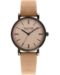 Kenneth Cole Reaction - Women's Crystal Accented Leather Strap Watch, 34mm - Lyst