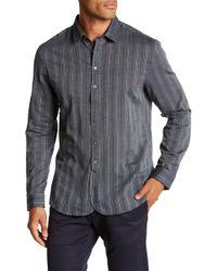 John Varvatos - Striped Long Sleeve Classic Fit Shirt - Lyst