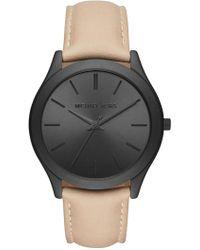 MICHAEL Michael Kors - Men's Slim Runway Leather Watch - Lyst
