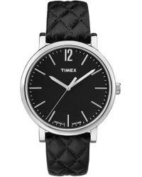 Timex - Women's Timeless Classic Design Leather Strap Watch, 38mm - Lyst