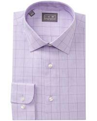 Ike Behar - Glen Plaid Regular Fit Dress Shirt - Lyst