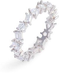 Nordstrom - Cubic Zirconia Eternity Ring - Lyst