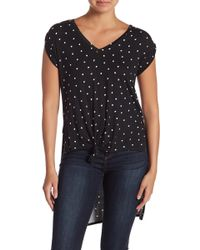 Love, Fire - Hi-lo Knot Front Tee - Lyst