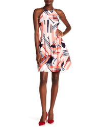 Vince Camuto - Halter Fit And Flare Dress - Lyst