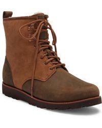 UGG - Hannen Plain Toe Genuine Shearling Waterproof Boot - Lyst