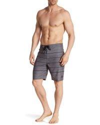 Hurley - Striped Tie Up Swim Shorts - Lyst