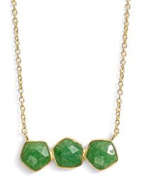 Argento Vivo - Three Stone Frontal Necklace - Lyst