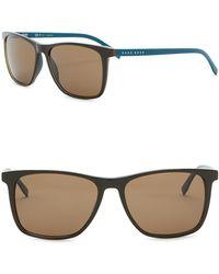 BOSS - Polarized 55mm Square Sunglasses - Lyst