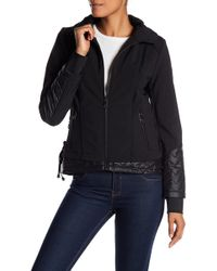 Guess - Soft Shell Exposed Layer Coat - Lyst