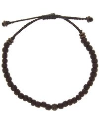 Link Up - Metal Lava Rock Black Bead Bracelet - Lyst