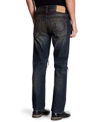 True Religion | Distressed Straight Leg Jeans | Lyst
