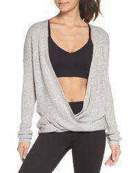 Zella - Wrap Sweater - Lyst