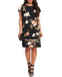 Wallis - Floral Bird Print Frill Dress - Lyst