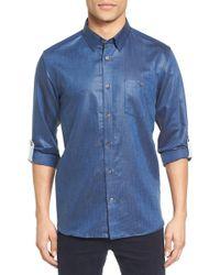 Ted Baker - Laavno Extra Slim Fit Linen Blend Sport Shirt - Lyst