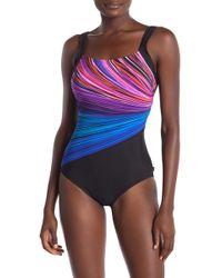 Reebok - Fire & Water One-piece Swimsuit - Lyst
