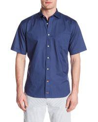Thomas Dean - Patterned Short Sleeve Regular Fit Shirt - Lyst