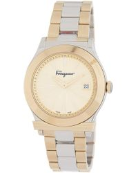 Ferragamo | Men's 1898 Two-tone Bracelet Watch, 33mm | Lyst