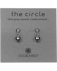 Dogeared - Sterling Silver 'the Circle' Ball Bead Drop Earrings - Lyst