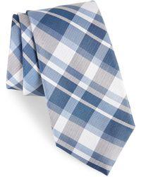 Calibrate - Modern Schoolboy Plaid Silk Tie - Lyst
