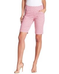 Jag Jeans - Ainsley Tile Printed Pull-on Bermuda Shorts - Lyst