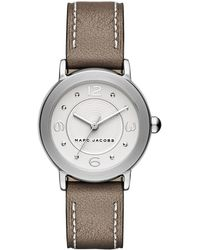 Marc Jacobs - Women's Riley Three-hand Leather Strap Watch, 28mm - Lyst