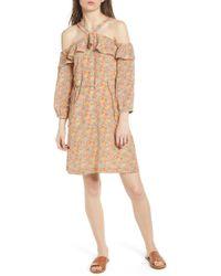 Madewell - Forsythia Cold Shoulder Silk Dress - Lyst