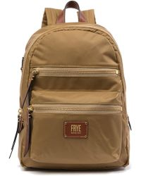 Frye - Ivy Nylon Leather-trimmed Backpack - Lyst