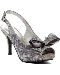 J. Reneé - Lliana Metallic Mesh Slingback Peep Toe Pump - Wide Width Available - Lyst