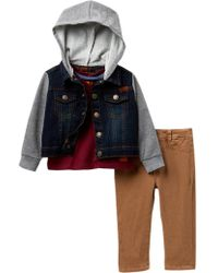 7 For All Mankind - Mixed Media Jacket, Tee, & Twill Pants 3-piece Set (baby Boys) - Lyst