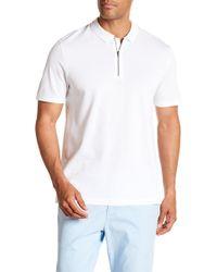 Vince - Zip Polo Shirt - Lyst