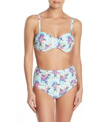 1d17f05995c Tropical Flower Caged One-piece Swimsuit. $35. Nordstrom Rack. Nicole Miller  - Underwire Bikini Top - Lyst