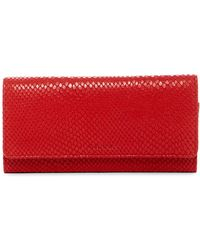 Tusk - Snake Embossed Leather Accordion Clutch Wallet - Lyst