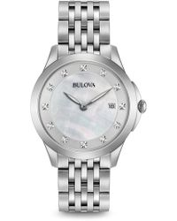 Bulova - Women's Diamond Marker Quartz Bracelet Watch, 36mm - 0.06 Ctw - Lyst