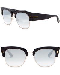 cc7beac183 Tom Ford - Dakota 55mm Clubmaster Sunglasses - Lyst