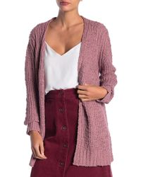 Dreamers By Debut - Open Front Knit Cardigan - Lyst