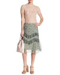Eva Franco - Ruffled Floral Skirt - Lyst