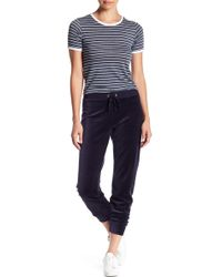 Juicy Couture - Zuma Velour Banded Pant - Lyst