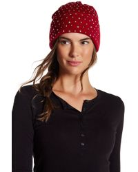 7dfffe3f64a Lyst - Tasha Jeweled Cat Ear Beanie in Black