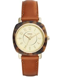 Fossil - Women's Idealist Tortoise Leather Strap Watch - Lyst