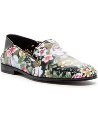 Alexander McQueen - Floral Leather Slip-on Flat - Lyst