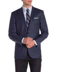 Brooks Brothers - Blue Solid Two Button Notch Lapel Explorer Regent Fit Suit Separates Jacket - Lyst