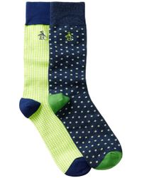 Original Penguin | Lewis & Gabriel Crew Socks - Pack Of 2 | Lyst