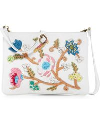 Raj - Embroidered Leaf Messenger Bag - Lyst